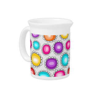 Colorful country flowers Pitcher