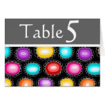 Colorful country flowers Table Number Greeting Card