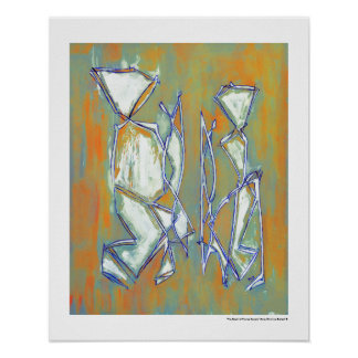 Colorful Couple Abstract Art MC Belkadi 16x20 Poster