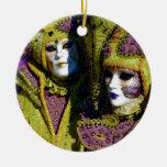 Colorful Couple Ceramic Ornament