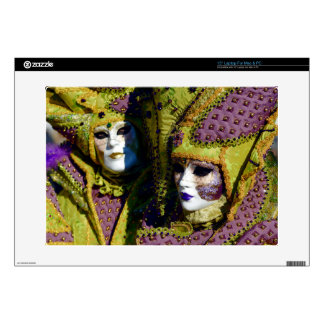 Colorful Couple From The Carnival of Venice Decal For Laptop