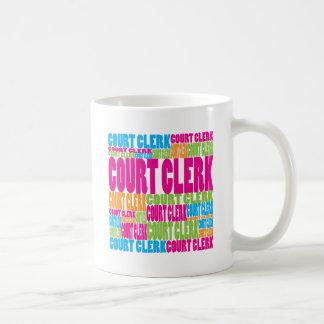 Colorful Court Clerk Coffee Mug
