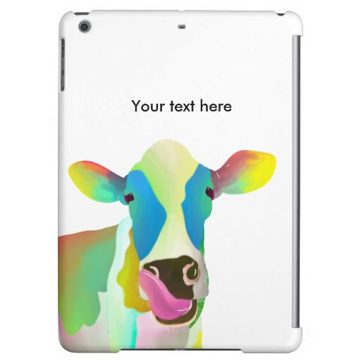 Colorful cow case for iPad air