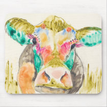 Colorful Cow Design Mouse Pad