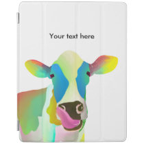 Colorful cow iPad smart cover