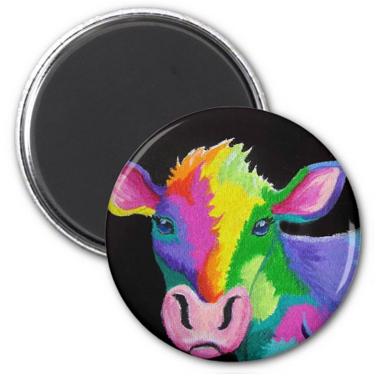 Colorful Cow Magnet