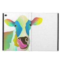 Colorful cow powis iPad air 2 case