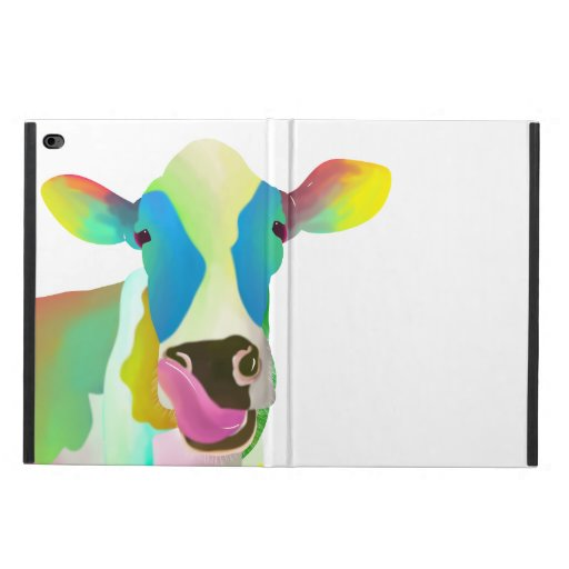 Colorful cow powis iPad air 2 case