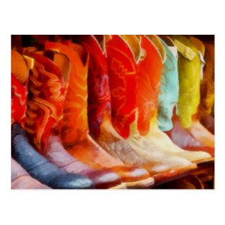 Colorful Cowboy Boots Postcard