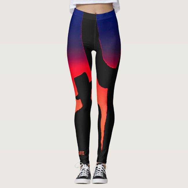 Colorful Cowboy Rainbow Fashion/Yoga Leggings