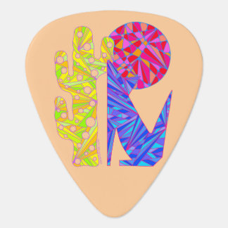 Colorful Coyote Wolf Southwest Art Design Musician Guitar Pick