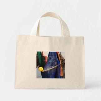 Colorful crabbing fishing nets and floats, florida tote bag