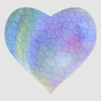 Colorful Cracks Abstract Heart Sticker