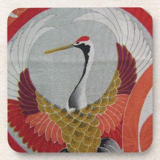 Colorful Crane Drink Coaster