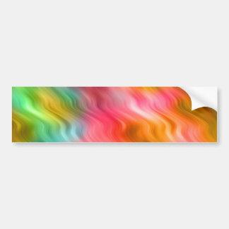 Colorful Crane Flower Wavy Texture Bumper Stickers