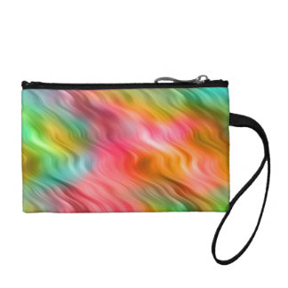 Colorful Crane Flower Wavy Texture Coin Wallet