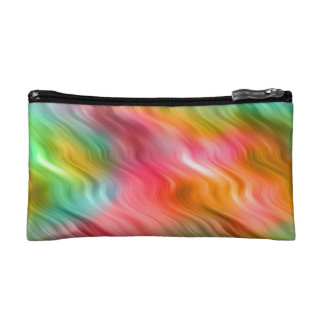 Colorful Crane Flower Wavy Texture Cosmetic Bag