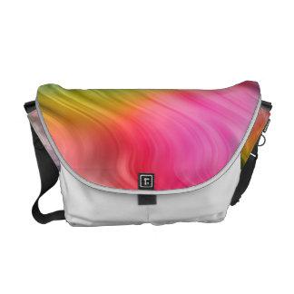 Colorful Crane Flower Wavy Texture Courier Bag