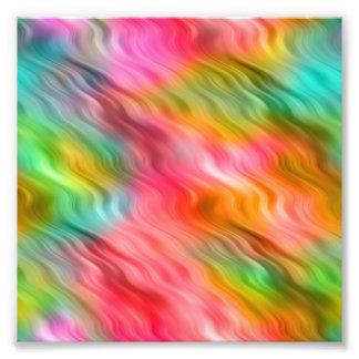 Colorful Crane Flower Wavy Texture Photo Print