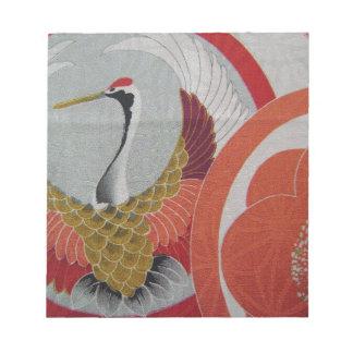 Colorful Crane Memo Pad