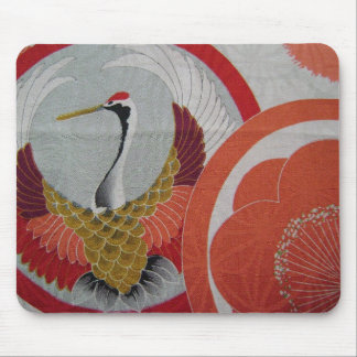 Colorful Crane Mouse Pad