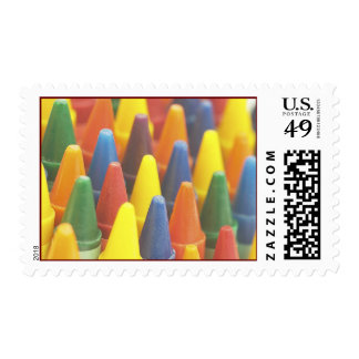 Colorful Crayons Artist Postage Stamps