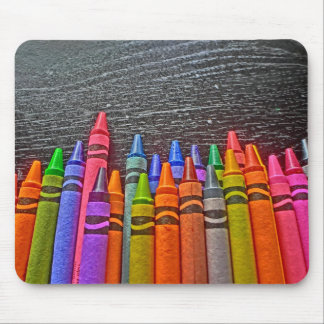 Colorful Crayons bright idea mousepad
