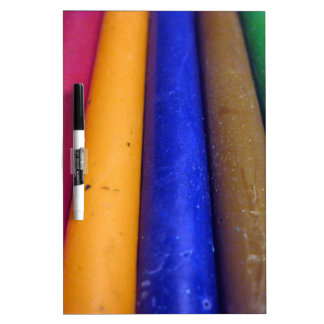 Colorful Crayons Dry Erase Board