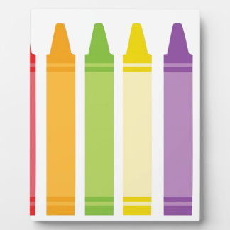 Colorful Crayons Plaque