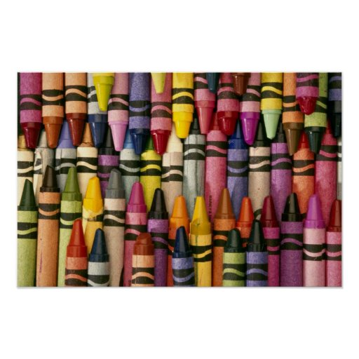 Colorful Crayons Poster