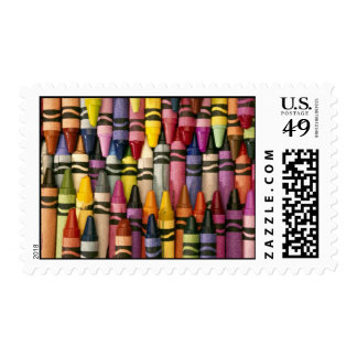 Colorful Crayons Stamp