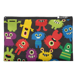 Colorful Crazy Fun Monsters Creatures Pattern Travel Accessory Bag