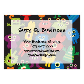 Colorful Crazy Fun Monsters Creatures Pattern Business Card Templates