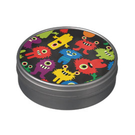 Colorful Crazy Fun Monsters Creatures Pattern Jelly Belly Candy Tins