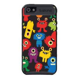Colorful Crazy Fun Monsters Creatures Pattern Cases For iPhone 5