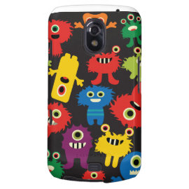 Colorful Crazy Fun Monsters Creatures Pattern Galaxy Nexus Cover