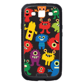 Colorful Crazy Fun Monsters Creatures Pattern Samsung Galaxy S3 Cover