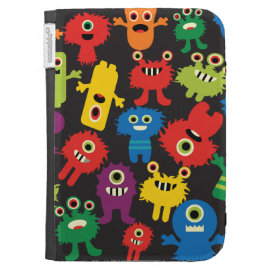 Colorful Crazy Fun Monsters Creatures Pattern Case For Kindle