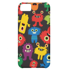 Colorful Crazy Fun Monsters Creatures Pattern Cover For iPhone 5C