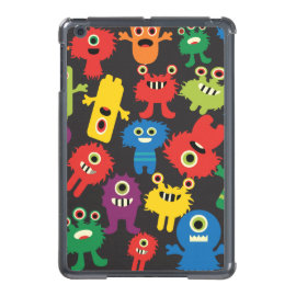 Colorful Crazy Fun Monsters Creatures Pattern iPad Mini Covers