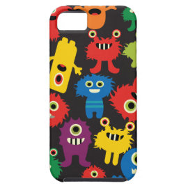 Colorful Crazy Fun Monsters Creatures Pattern iPhone 5/5S Covers