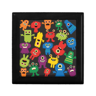 Colorful Crazy Fun Monsters Creatures Pattern Gift Box