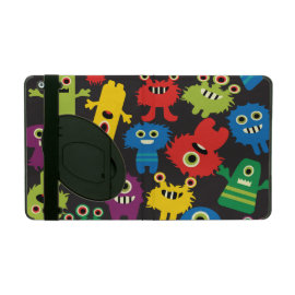 Colorful Crazy Fun Monsters Creatures Pattern iPad Case