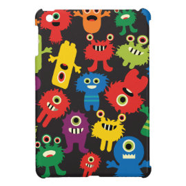 Colorful Crazy Fun Monsters Creatures Pattern Case For The iPad Mini