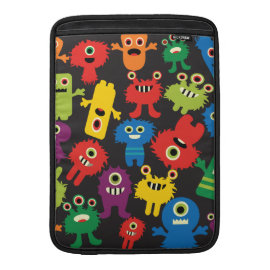 Colorful Crazy Fun Monsters Creatures Pattern Sleeve For MacBook Air