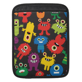 Colorful Crazy Fun Monsters Creatures Pattern iPad Sleeves