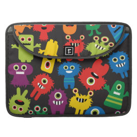 Colorful Crazy Fun Monsters Creatures Pattern Sleeves For MacBooks
