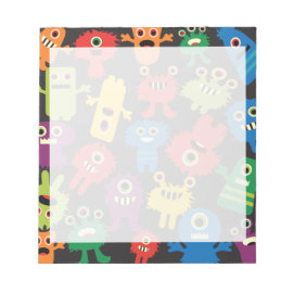 Colorful Crazy Fun Monsters Creatures Pattern Memo Pads