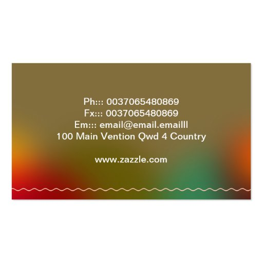 colorful creamy cupcakes business card (back side)