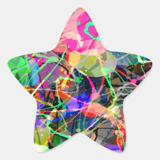 Colorful Creative Chaos Star Sticker